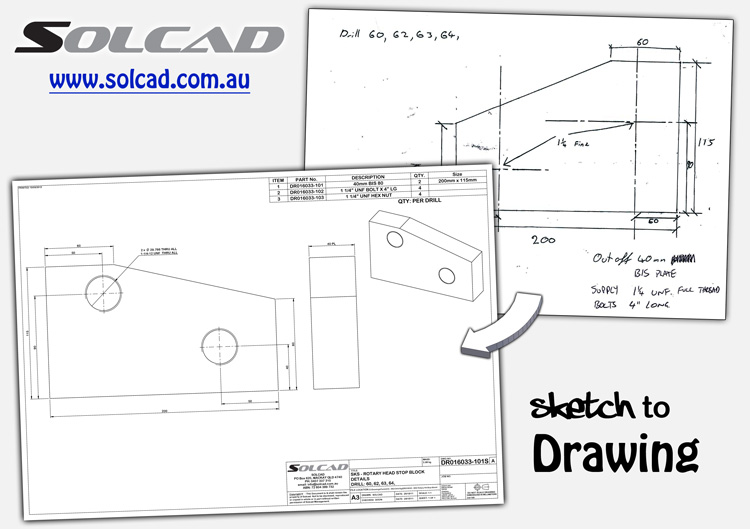 Solcad Sketch-to-Drawing