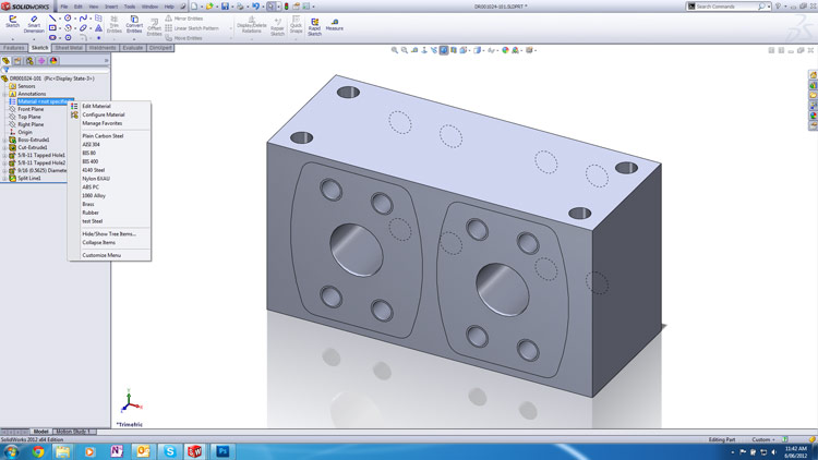 Solidworks 2012 Custom Material Tip 002